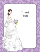 Vintage Bride Thank You Cards