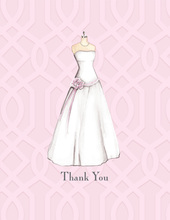 Wedding Dress Thank You Cards