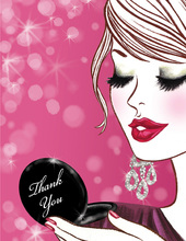 Glam Girl Thank You Cards