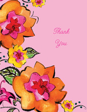 Pink Garden Thank You Cards