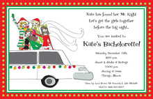 Limousine Holiday Bachelorette Invitation