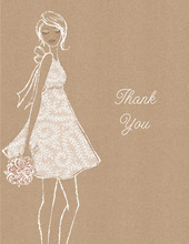 Kraft Bridal Shower Thank You Cards