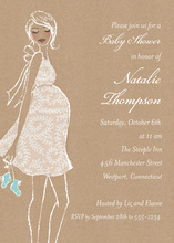 Kraft Baby Shower Blue Invitations