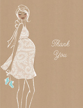 Kraft Baby Shower Blue Thank You Cards
