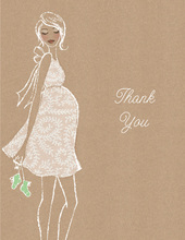 Kraft Baby Shower Green Thank You Cards
