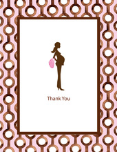Pretty & Pregnant Pink Thank You Cards