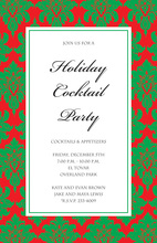 Holiday Tapestry Border Invitations