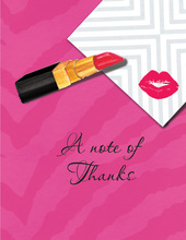 Kiss and Tell Thank You Cards