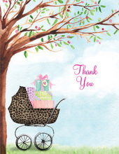 Leopard Print Carriage Thank You Cards