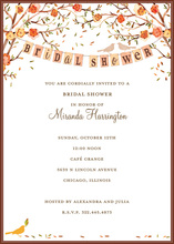 Love Birds Fall Bridal Shower Invitations