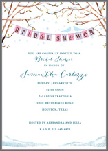 Love Birds Winter Bridal Shower Invitations