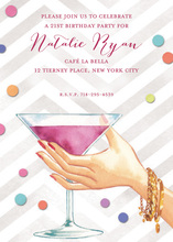 Martini Cheers Invitations