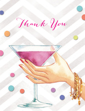 Martini Cheers Thank You Cards