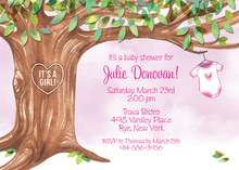 Onsie Tree Pink Invitations