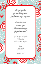 Bright Swirls Winter Invitation