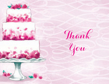 Pink Petal Bridal Thank You Cards