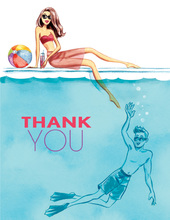 Cool at the Pool Thank You Cards