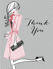 Pretty Pink Party Thank You Cards