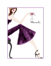 Pretty in Purple Thank You Cards