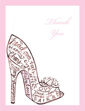 Stunning Shoe Thank You Cards