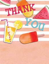 Summer Essentials Blue Thank You Cards