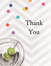 Sophisticated Soiree Thank You Cards