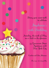 Sprinkles and Confetti Pink Birthday Invitations