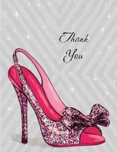 Sparkle Party Pump Thank You Cards