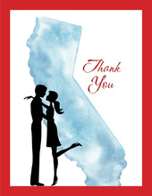 California Couple Thank You Cards