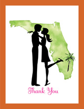 Florida Couple Thank You Cards