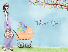 Strolling Mom Thank You Cards