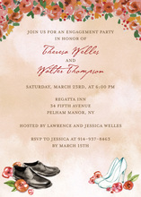 Special Wedding Shoes Fall Invitations