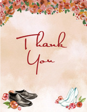 Special Wedding Shoes Fall Thank You Cards