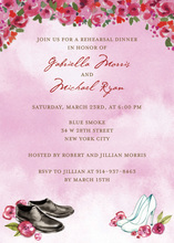 Special Wedding Shoes Bride and Groom Invitations