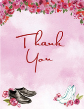 Special Wedding Shoes Thank You Cards