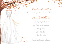 Wonderful Weddding Dress In Fall Invitations
