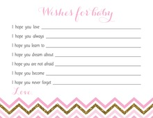 Pink Gold Glitter Chevrons Advice Cards