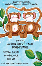 Monkey See, Monkey Do Invitation