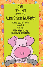 Pig Out Polka Dots Invitation