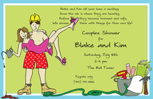 Couples Shower Tool and Garden Party Invitations