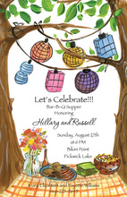 Between Trees Outdoor Luncheon Party Invitations