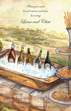 Elegant Wine Country Large Basin Party Invitations