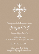 Elegant Cross Kraft Religious Invitations