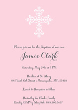 Elegant Cross Pink Religious Invitations