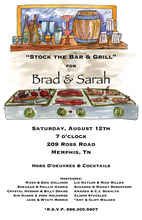 Featuring Bar Grill Table Party Invitations
