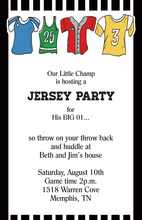 Jersey Stripes Multi-color Sport Clothes Invitations