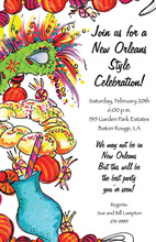 Mardi Gras New Orleans Invitation