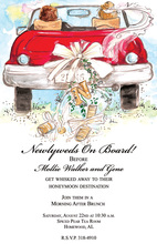 Nostalgia Newlywed's Car Wedding Invitations