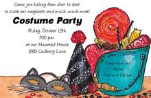 Fun Bucket Costume Party Invitations