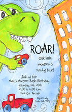 Rampage Dinosaur Roar Birthday Invitations